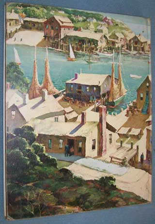 Photo of Hardcover book, Painting the Waterfront, Henry Gasser, rear cover
