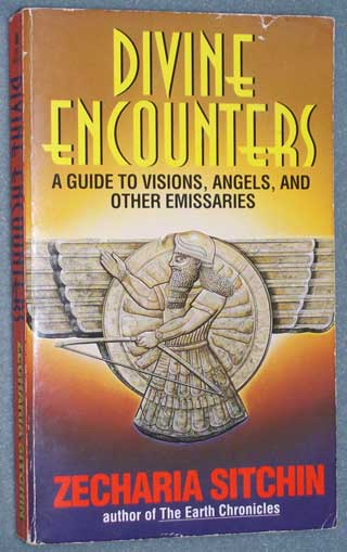 Photo of paperback book - Devine Encounters by Zecharia Sitchin, Paperback, front cover.