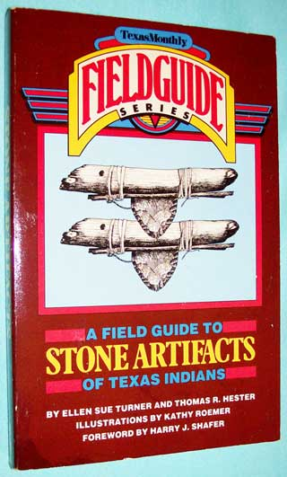 Photo of softcover book A Field Guide To Stone Artifacts of Texas Indians, front