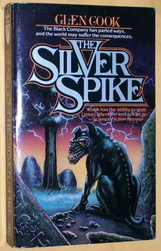Photo of paperback book The Silver Spike, Glen Cook, front cover.