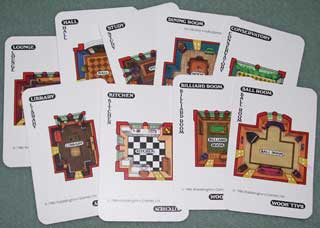 Photo of Murder Rooms Card Set for Parker Brothers Clue / Cluedo Murder Mystery Game