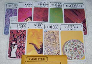 Photo of Murder Rooms Card Set for Hasbro Clue / Cluedo Murder Mystery Game