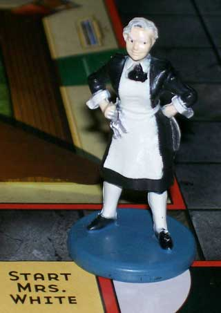 Photo of Suspect Mrs. White gamepiece for Parker Brothers Clue / Cluedo Murder Mystery Game