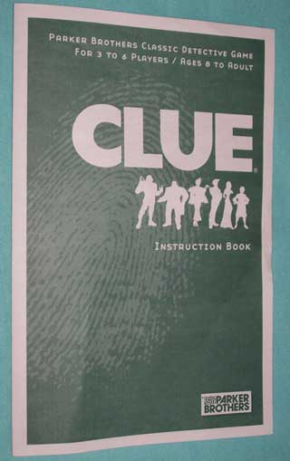 Photo of Clue / Cluedo Murder Mystery Game Game part - Green Rulebook