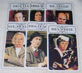 Photo of Murder Suspects Card Set for Hasbro Clue / Cluedo Murder Mystery Game