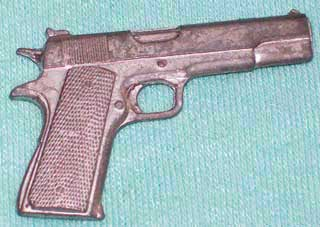 Photo of Clue / Cluedo Murder Mystery Game Weapon Gamepiece - Colt Model 1911 Semi-automatic 45 Caliber Pistol