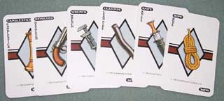 Photo of Murder Weapons Card Set for Parker Brothers Clue / Cluedo Murder Mystery Game