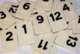 Photo of Deluxe Rummikub Number Gamepiece Replacement Piece - BLACK