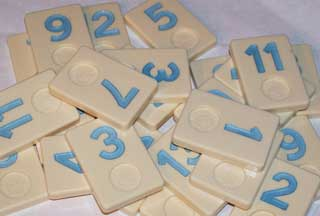 Photo of Deluxe Rummikub Number Replacement Playing Piece - BLUE