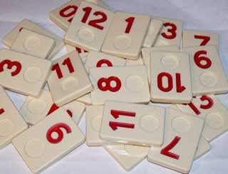 Photo of Deluxe Rummikub Number Replacement Play Piece - RED