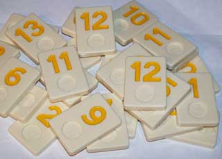 Photo of Deluxe Rummikub Number Replacement Piece - YELLOW