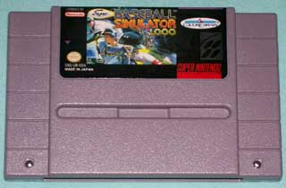 Photo of SNES Game Cartridge - Baseball Simulator 1.000 ( Culture Brain )