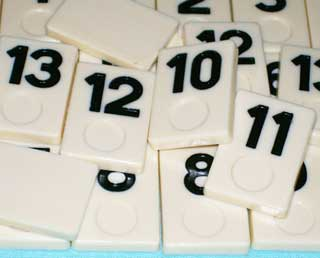 Photo of Deluxe Rummy-O II Number Tile Replacement Piece - BLACK