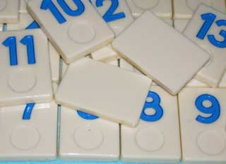 Photo of Deluxe Rummy-O II Number Tile Replacement Piece - BLUE