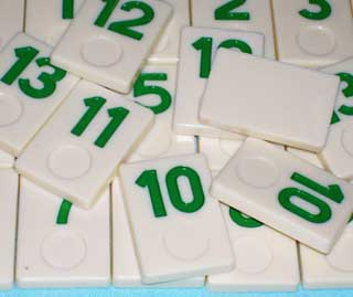 Photo of Deluxe Rummy-O II Number Tile Replacement Piece - GREEN