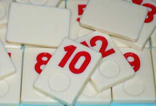 Photo of Deluxe Rummy-O II Number Tile Replacement Piece - RED