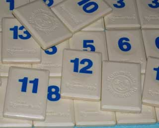 Photo of Original Rummikub Number Tile Replacement Piece - BLUE