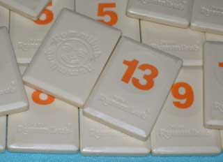 Photo of Original Rummikub Number Tile Replacement Piece - ORANGE