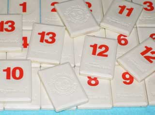 Photo of Original Rummikub Number Tile Replacement Piece - RED