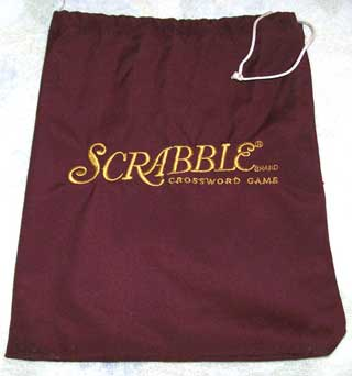 Photo of Scrabble Letter Pouch / Bag, Maroon, Used, Very good condition
