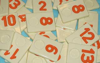 Rummikub Number Tile Replacement Piece - orange