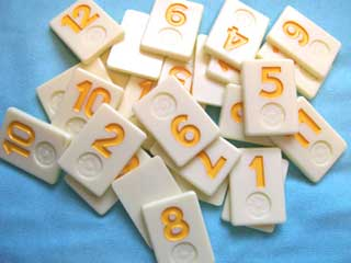 Rummikub Number Tile Replacement Piece - Yellow