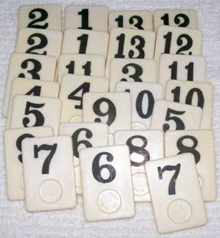 Rummy-O Number Tile Replacement Piece - BLACK