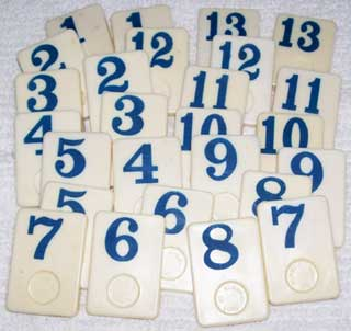 Rummy-O Number Tile Replacement Piece - BLUE