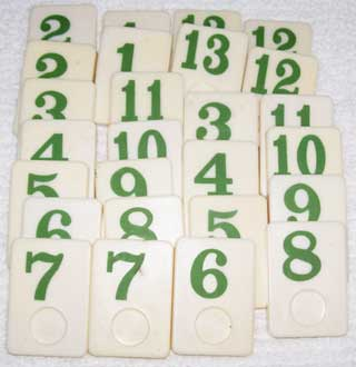 Rummy-O Number Tile Replacement Piece - GREEN