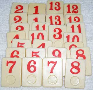Rummy-O Number Tile Replacement Piece - RED