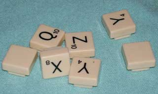 Photo of Parker Brothers / Hasbro Folio Travel Scrabble Bonus Letter Replacements, choice of B, C, D, F, G, H, L, M, N, P, R, S, T, V, and W