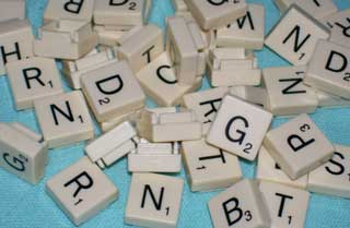 Photo of Parker Brothers / Hasbro Folio Travel Scrabble Consonant Letter Replacements, choice of B, C, D, F, G, H, L, M, N, P, R, S, T, V, and W