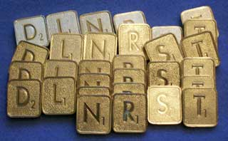 Photo of Franklin Mint Scrabble - Collector's Edition 24kt Gold Plated Letter Tiles - By the Piece - Choice of D, L, N, R, S or T