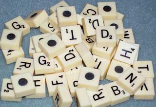Photo sample of Vintage Magnetic Travel Scrabble Letter Replacements, choice of B,C,D,F,G,H,L,M,N,P,R,S,T,V, and W