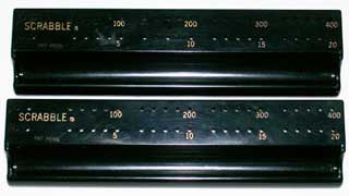 Photo of Black plastic scoring trays / letter racks