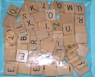 Photo of Maroon Scrabble Letters