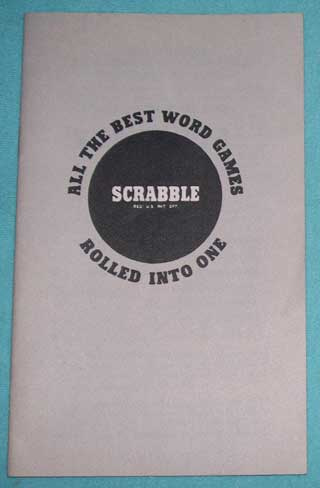 Photo of Scrabble Rulebook for Deluxe Games, front view