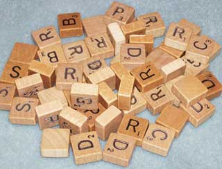 Photo of Travel Scrabble Letter Replacements, choice of B,C,D,F,G,H,L,M,N,P,R,S,T,V, and W