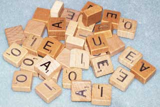 Photo of Travel Scrabble Letter Replacements, choice of A, E, I, O and U