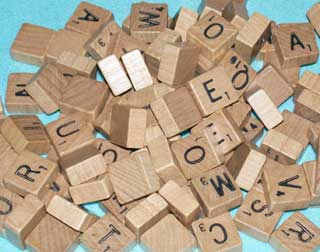Photo of Deluxe Travel Scrabble Wood Letter Set - used