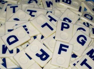 Photo of a group of consonants Wordkub game pieces