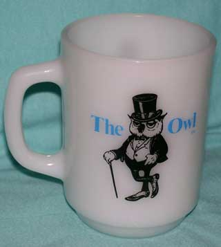 Photo of a Anchor Hocking Advertising Coffee Cup - The Owl, handle left