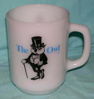 Photo of a Anchor Hocking Advertising Coffee Cup - The Owl, handle right
