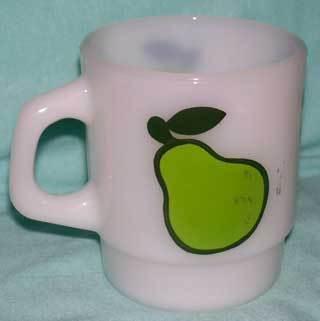 Photo of a Anchor Hocking - Fire King Coffee Cup - super Fruit - Pear, handle left