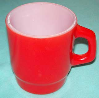 Photo of a Anchor Hocking Red Stackable Coffee Cup - left