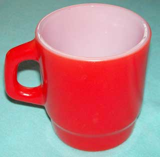 Photo of a Anchor Hocking Red Stackable Coffee Cup - right