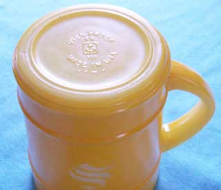 Photo of Anchor Hocking Yellow Barrel Coffee Cup - bottom side