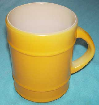 Photo of Anchor Hocking Yellow Barrel Coffee Cup - left side