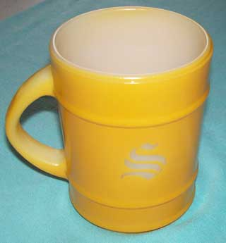 Photo of Anchor Hocking Yellow Barrel Coffee Cup - right side