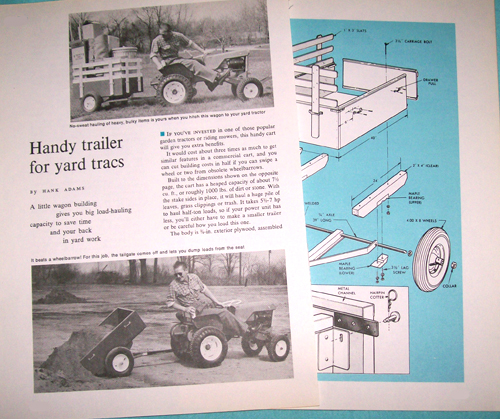 Photo of Plans for a Garden Dump Trailer for your tractor
